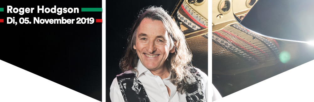 Header - Roger Hodgson, 2019 Breakfast in America World Tour, Di, 05.11.2019, Wiener Stadthalle, Halle D © Rob Shanahan