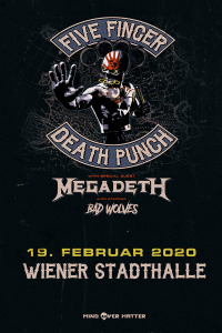 Five Finger Death Punch, Mi, 19.02.2020 @ Wiener Stadthalle, Halle D, 001 © Barracuda Music GmbH