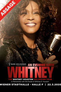 """An Evening with Whitney Houston"": The Whitney Houston Hologram Tour, So, 22.03.2020 @ Wiener Stadthalle, Halle F © Barracuda Music GmbH"