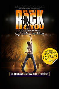 We Will Rock You, Das Hit-Musical von Queen und Ben Elton, Mi, 23.02.2022 bis So, 06.03.2022 @ Wiener Stadthalle, Halle F © Live Nation