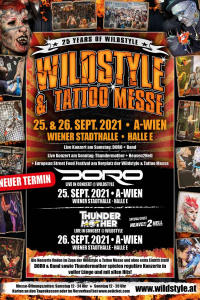 Wildstyle & Tattoo Messe, Sa, 26.09.2020 & So, 27.09.2020 @ Wiener Stadthalle, Halle E © Wildstyle & Tattoo Messeveranstaltungs GmbH