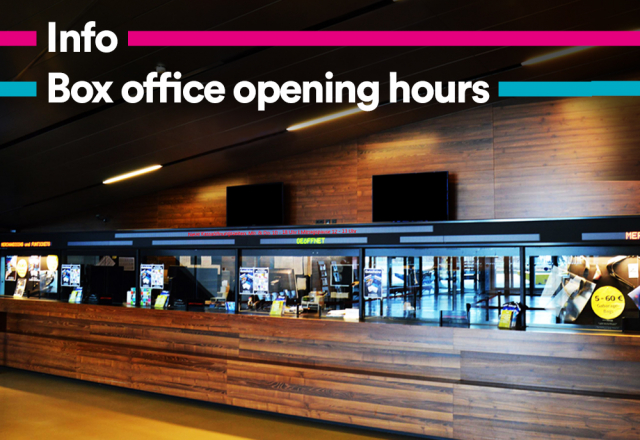 New box office opening hours © Wiener Stadthalle