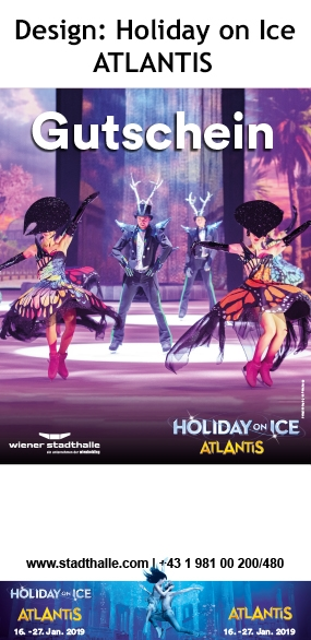 Holiday on Ice ATLANTIS Gutscheine Mi, 16.01.2019 - So, 27.01.2019  Wiener Stadthalle, Halle D ©Holiday on Ice Production