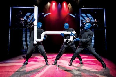 Blue Man Group 2018 © Lindsay Best ® 2017 Blue Man Productions, LLC.
