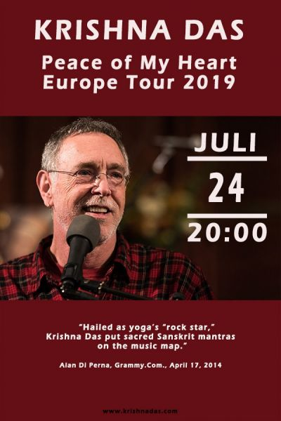 Krishna Das, Peace of My Heart Europe Tour 2019, Mi, 24.07.2019, Wiener Stadthalle, Halle E © Dhara Music
