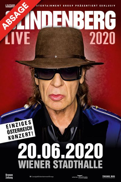 Udo Lindenberg, Panik-Tournee, Sa, 20.06.2020 @ Wiener Stadthalle, Halle D © Global Event & Entertainment