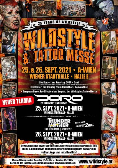 Wildstyle & Tattoo Messe, Sa, 25.09.2021 & So, 26.09.2021 @ Wiener Stadthalle, Halle E © Wildstyle & Tattoo Messeveranstaltungs GmbH