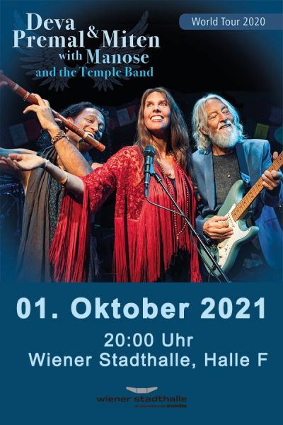 Deva Premal & Miten with Manose and the Temple Band, Do, 29.10.2020 @ Wiener Stadthalle, Halle F © Dhara Music